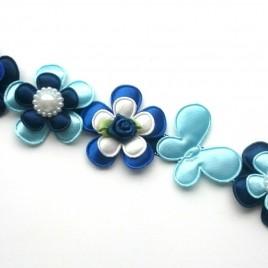 Knot-strik blauwtinten