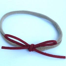 Elastisch haarbandje roodbruin