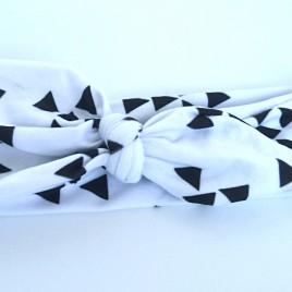 Wrap haarband zwart wit triangle
