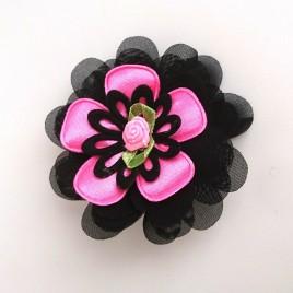 Haarlokspeld zwart, roze