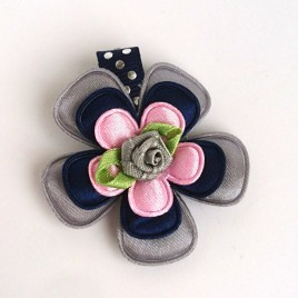 Haarlokspeld grijs, donkerblauw, roze