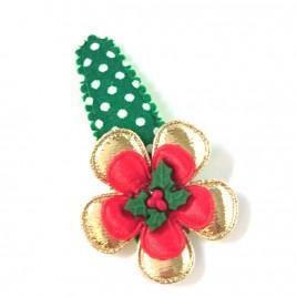 Kerst Classic goud/groen polkadot hulst