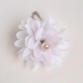 Haarspeld grote bloem wit