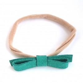 Elastische haarband grote strik, groen