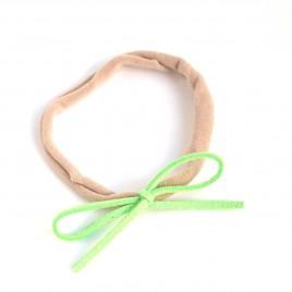 Elastisch haarbandje kleine strik, neon groen