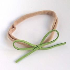Elastisch haarbandje kleine strik, groen