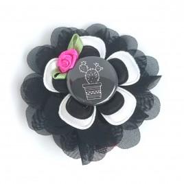 Haarlokspeld zwart, cactus