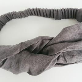 Dames haarband grijs