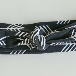 Wrap haarband grijs pijl