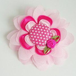 Haarlokspeld roze, ster