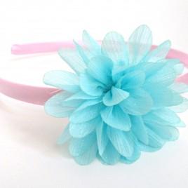 Diadeem lichtroze met mint bloem