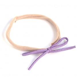 Elastisch haarbandje kleine strik, paars