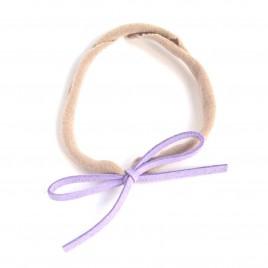 Elastisch haarbandje kleine strik, lila