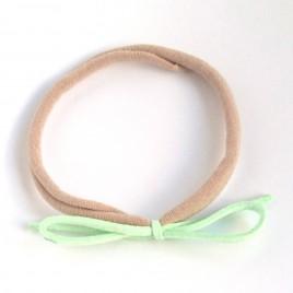 Elastisch haarbandje kleine strik, mint