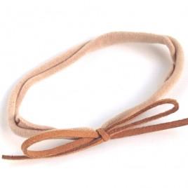 Elastisch haarbandje kleine strik, camel