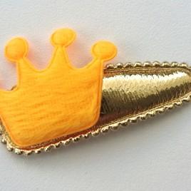 Haarspeldje goud met kroontje