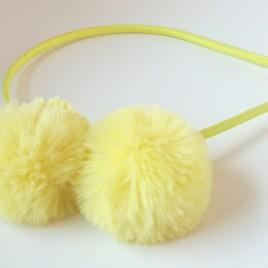 Diadeem pluche geel