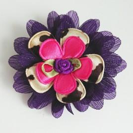 Haarlokspeld paars, dierenprint