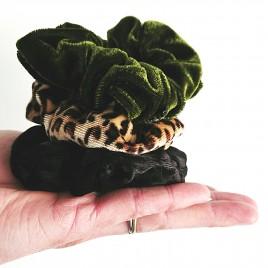 Scrunchie velvet groen