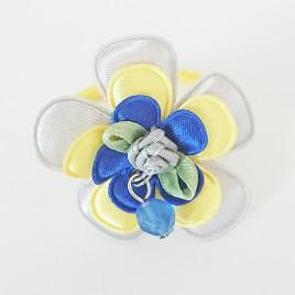 Haarelastiek geel, grijs, blauw
