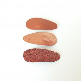 Haarspeldjes 3 stuks bruin