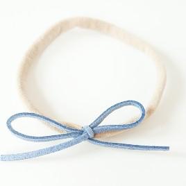 Elastisch haarbandje kleine strik, lavendel