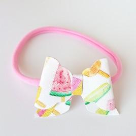 Elastisch haarbandje roze/icecream