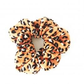 Scrunchie luipaard roestkleur