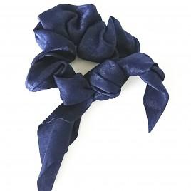 Scrunchie blauw strik