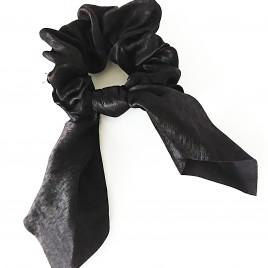 Scrunchie zwart strik